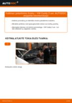 VW Caddy II Universalas online vadovas