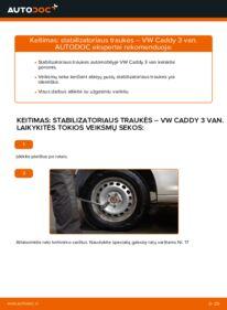 Kaip atlikti keitimą: 1.9 TDI VW Caddy 3 Van Pasukimo trauklė