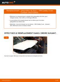 Comment effectuer un remplacement de Plaquettes de Frein sur 1.9 TDI VW Caddy 3 Van