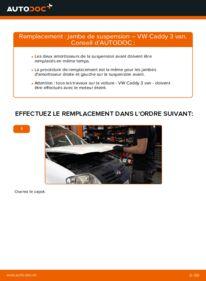 Comment effectuer un remplacement de Amortisseurs sur 1.9 TDI VW Caddy 3 Van