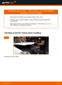 Kaip atlikti keitimą: 1.9 TDI VW Caddy 3 Van Spyruoklės