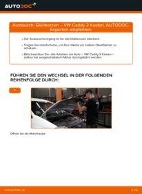 Wie der Wechsel durchführt wird: Glühkerzen 1.9 TDI VW Caddy 3 kasten tauschen