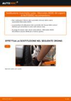 Cambio Ganasce Freno a Mano istruzioni pdf per MERCEDES-BENZ E-CLASS
