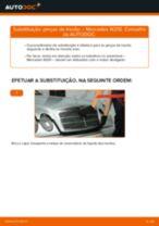 Como mudar pinças de travão da parte traseira em Mercedes W210 - guia de substituição