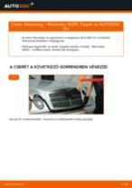 MERCEDES-BENZ E-CLASS (W210) Kézifékkötél beszerelése - lépésről-lépésre útmutató
