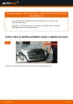 Comment changer : étrier de frein arrière sur Mercedes W210 - Guide de remplacement