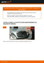 Cómo cambiar: pinza de freno de la parte trasera - Mercedes W210 | Guía de sustitución