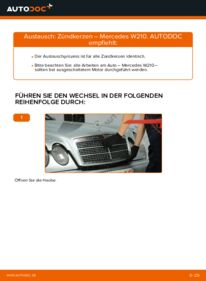 Wie der Wechsel durchführt wird: Zündkerzen E 300 3.0 Turbo Diesel (210.025) Mercedes W210 tauschen