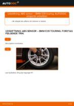 Hvornår skal Abs føler skiftes BMW 5 Touring (E39): vejledning pdf