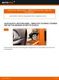Wie der Wechsel durchführt wird: Motorlager 530d 3.0 BMW E39 Touring tauschen