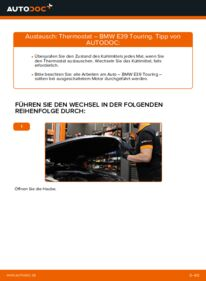 Wie der Wechsel durchführt wird: Thermostat 530d 3.0 BMW E39 Touring tauschen