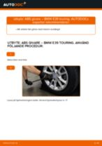 Byta ABS givare fram på BMW E39 touring – utbytesguide