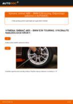 Ako vymeniť zadné snímač ABS na BMW E39 touring – návod na výmenu