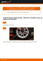 Como mudar sensor ABS da parte traseira em BMW E39 touring - guia de substituição