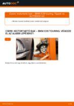 Baloldali motortartó bak-csere BMW E39 touring gépkocsin – Útmutató
