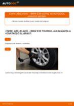 Elülső ABS jeladó-csere BMW E39 touring gépkocsin – Útmutató