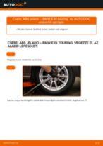 Hátsó ABS jeladó-csere BMW E39 touring gépkocsin – Útmutató