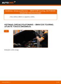 Kaip atlikti keitimą: 530d 3.0 BMW E39 Touring V formos rumbuotas diržas
