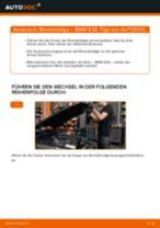 Wechseln von Scheibenbremsbeläge BMW 3 SERIES: PDF kostenlos