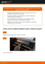 Changement Filtre d'Habitacle BMW 3 SERIES : manuel d'atelier