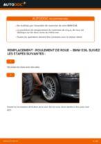 Comment changer Kit de roulement de roue arrière et avant BMW 3 (E36) - manuel en ligne