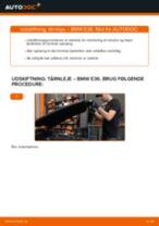 Udskift tårnleje for - BMW E36   Brugeranvisning