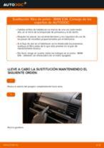 Instalación Filtro de aire acondicionado BMW 3 (E36) - tutorial paso a paso
