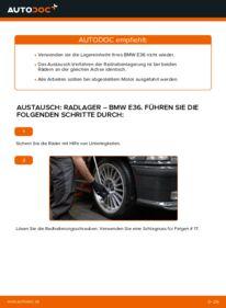 Wie der Wechsel durchführt wird: Radlager 320i 2.0 BMW E36 tauschen