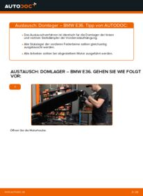 Wie der Wechsel durchführt wird: Domlager 320i 2.0 BMW E36 tauschen