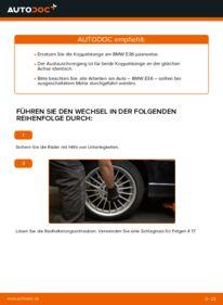 Wie der Wechsel durchführt wird: Koppelstange 320i 2.0 BMW E36 tauschen