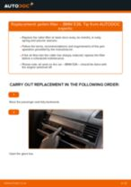 DIY BMW change Air conditioner filter - online manual pdf