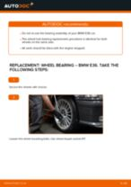 How to change Axle shaft bearing rear and front on BMW 3 (E36) - manual online