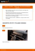 Byta kupéfilter på BMW E36 – utbytesguide