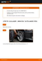 Byta hjullager fram på BMW E36 – utbytesguide