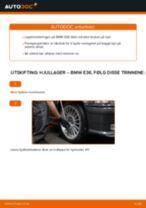 Slik bytter du hjullager fremme på en BMW E36 – veiledning