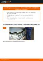 Mekanikerens anbefalinger om bytte av NISSAN Nissan Micra k11 1.3 i 16V Fjærer