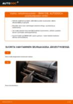 Kuinka vaihtaa raitisilmasuodatin BMW E36-autoon – vaihto-ohje