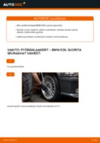 Kuinka vaihtaa pyöränlaakerit eteen BMW E36-autoon – vaihto-ohje