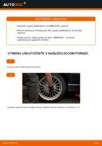 Ako vymeniť zadné tyčky stabilizátora na BMW E36 – návod na výmenu