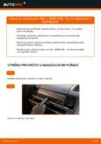 Jak vyměnit kabinovy filtr na BMW E36 – návod k výměně