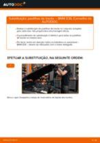 Como mudar e ajustar Calços de travão BMW 3 SERIES: tutorial pdf