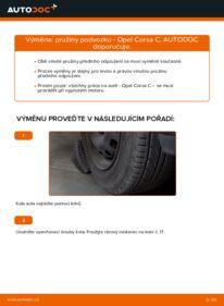 Jak provést výměnu: Odpruzeni na 1.2 (F08, F68) Opel Corsa C