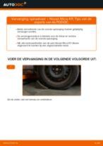 Ruitenwisser Mechaniek veranderen NISSAN MICRA: werkplaatshandboek
