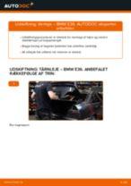 Udskift tårnleje bag - BMW E36   Brugeranvisning