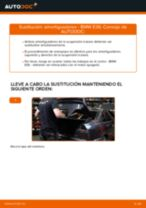 Cómo cambiar: amortiguadores de la parte trasera - BMW E36 | Guía de sustitución