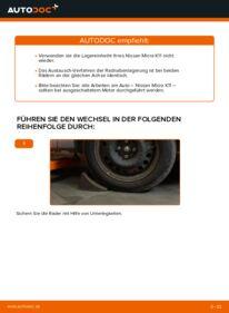 Wie der Wechsel durchführt wird: Radlager 1.0 i 16V Nissan Micra k11 tauschen