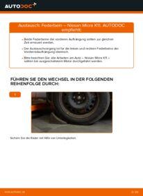 Wie der Wechsel durchführt wird: Stoßdämpfer 1.0 i 16V Nissan Micra k11 tauschen