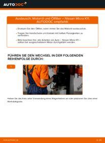 Wie der Wechsel durchführt wird: Ölfilter 1.0 i 16V Nissan Micra k11 tauschen
