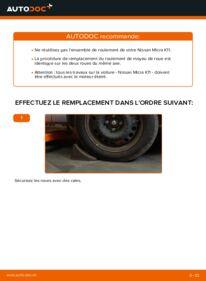 Comment effectuer un remplacement de Roulement De Roues sur 1.0 i 16V Nissan Micra k11