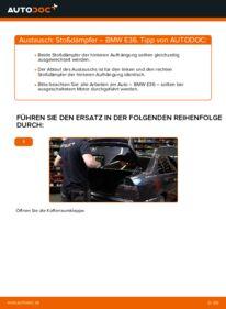 Wie der Wechsel durchführt wird: Stoßdämpfer 320i 2.0 BMW E36 tauschen